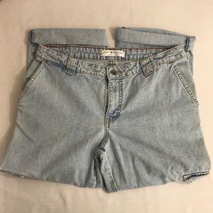 Tommy Hilfiger TJC Cargo Denim High Rise Mom Jeans